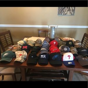 23 ball cap lot hats new and used